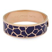 Halcyon Days - Giraffe Navy & Rose Gold Bangle
