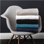 Florence Broadhurst - Circles & Squares Black Bath Mat