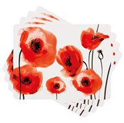 Ladelle - Dine Wild Poppies Placemat Set 4pce