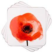 Ladelle - Dine Wild Poppies Coaster Set 4pce