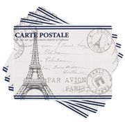 Ladelle - Dine Paris Stamp Placemat Set 4pce