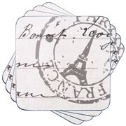 Ladelle - Dine Paris Stamp Coaster Set 4pce