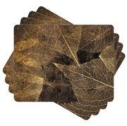 Ladelle - Dine Autumn Gold Placemat Set 4pce