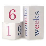 All4Ella - Milestone White & Pink Blocks