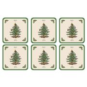 Pimpernel - Christmas Tree Coaster Set 6pce