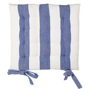 Rans - Alfresco Stripe Chair Pad Cobalt Blue