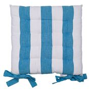Rans - Alfresco Stripe Chair Pad Ocean Blue