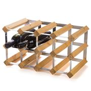 Traditional Wine Rack Co. - Light Oak Wine Rack 12 Bottles