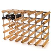 Traditional Wine Rack Co. - Light Oak Wine Rack 30 Bottles