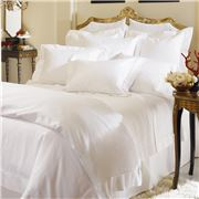 Sferra - Milos White Queen Flat Sheet