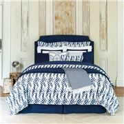 Sferra - Madsen Quilt Cover Navy King