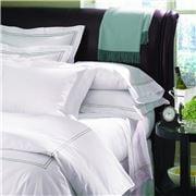 Sferra - Grande Hotel White & Grey Pillowcase Set 2pce