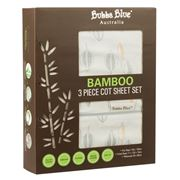 Bubba Blue - Bamboo Leaf Cot Sheet Set 3pce