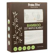 Bubba Blue - Bamboo Leaf Cot Waffle Blanket