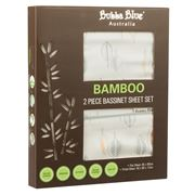 Bubba Blue - Bamboo Leaf Bassinet Sheet Set 2pce