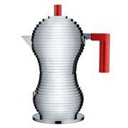Alessi - Pulcina Espresso Coffee Maker Red 3 Cups