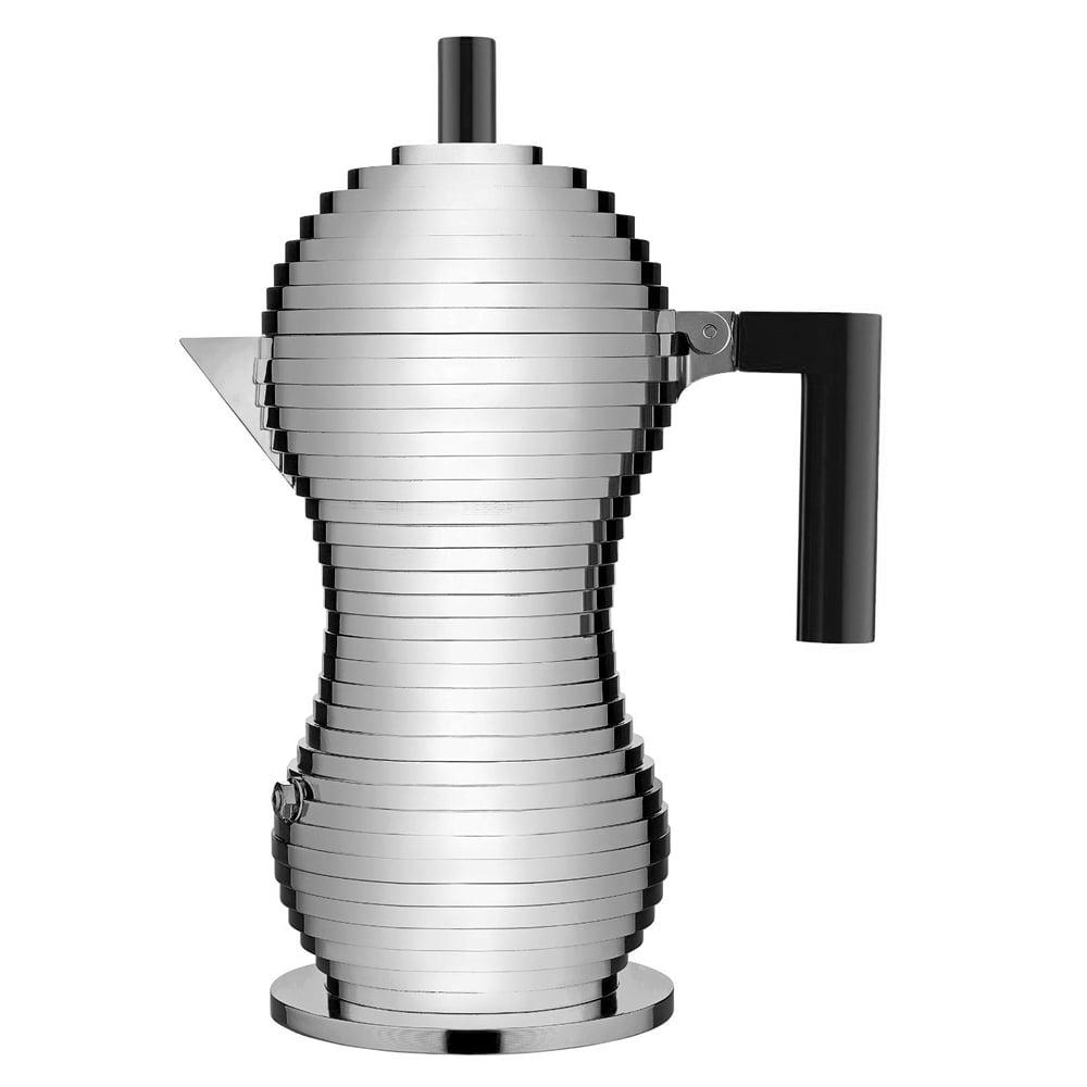 Alessi pulcina black espresso coffee maker 255ml peter for Catalogo alessi