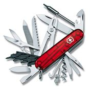 Victorinox - Cyber Tool 41 Swiss Army Knife Transparent Red