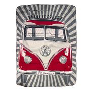 VW Collection - Kombi Red Picnic Blanket with Carry Bag