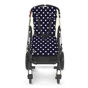Travel Comfy - Navy Crosses Cotton Pram Liner