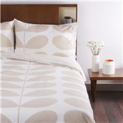 Orla Kiely - Flannel Giant Stem Clay Queen Quilt Cover Set