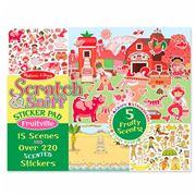 Melissa & Doug - Scratch & Sniff Fruitville Sticker Pad