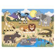 Melissa & Doug - Safari Peg Puzzle