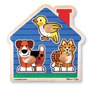 Melissa & Doug - House Pets Knob Puzzle 3pce