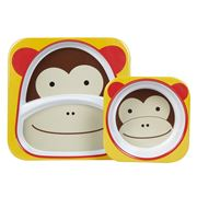 SkipHop - Zoo Monkey Melamine Mealtime Set 2pce
