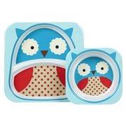 SkipHop - Zoo Owl Melamine Mealtime Set 2pce