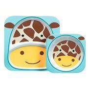 SkipHop - Zoo Giraffe Melamine Mealtime Set 2pce