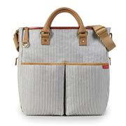 SkipHop - Duo Essential French Stripe Diaper Bag