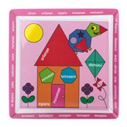 Education On A Plate - Pink Shapes Plate