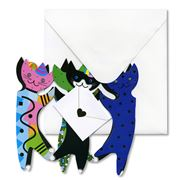 Special Delivery Cards - Party Cats Fold-Out Card