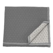 D Lux - Misty Grey Rversible Baby Bassinet Blanket