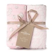 Sheridan - Baby Mysie Honey Pink Muslin Wrap Set 2pce