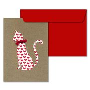 Lissie Lou - Heart Cat Greeting Card