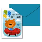 Little Red Owl - Little Man Greeting Card