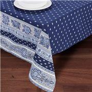 French Linen - Bastide Navy Blue Tablecloth 155x300cm