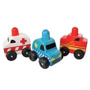Discoveroo - Squeaker Emergency Car Set 3pce