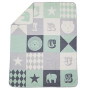 David Fussenegger - Juwel Mint Circus Patch Bassinet Blanket