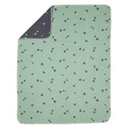 David Fussenegger - Mint Triangles Bassinet Blanket