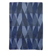 David Fussenegger - Blue Geometric Plaid Split Blanket