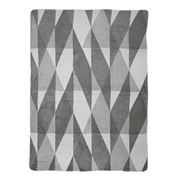David Fussenegger - Grey Geometric Split Blanket
