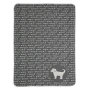 David Fussenegger - Woof Grey Pet Blanket