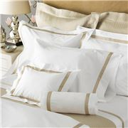 Matouk - Lowell Pillowcase Khaki European Sham