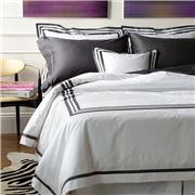Matouk - Allegro Charcoal European Sham Pillowcase