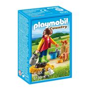 Playmobil - Country Woman with Cat Family