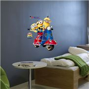 Imagicom - Minions Scooter Wall Decal