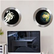 Imagicom - Wall Deco Porthole Space Sticker Sheets